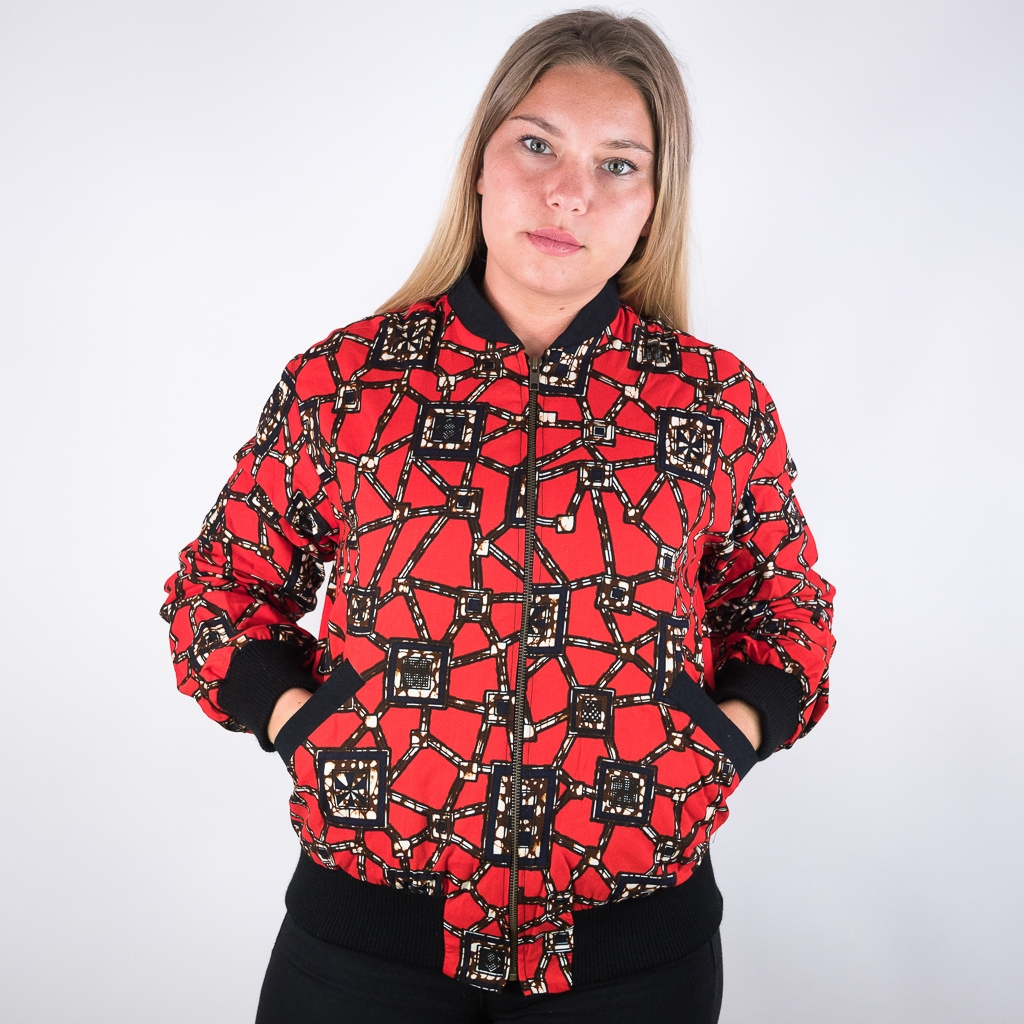 Rote Bomberjacke für Damen